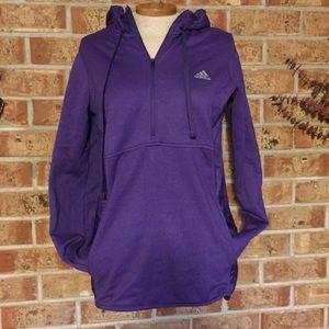 NWOT Adidas hoodie 3/4 zip purple medium